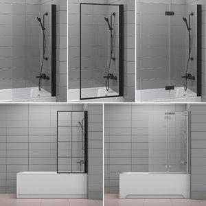 shutters baths radaway villeroy 3D model