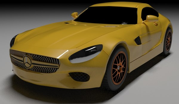 3D mercedes amg model