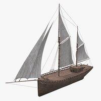 Old boat Sailboat