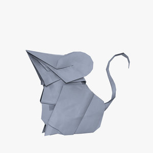 3D origami mouse model