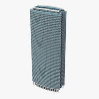 3D skyscraper highrise building