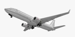 3d model boeing 737-800 plane generic