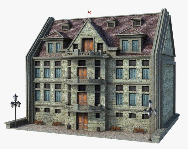building medieval old 3D