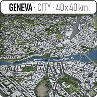 3D model switzerland surrounding -