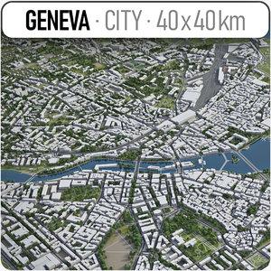 3D model switzerland surrounding -