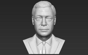 3D nigel farage bust ready model