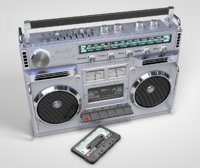 Boombox and Cassette