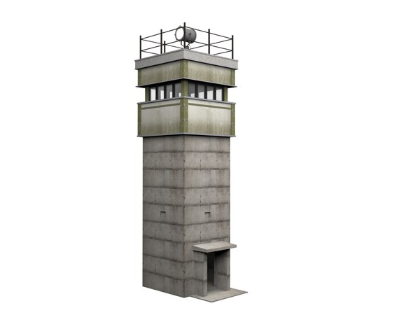 3D watchtower bt-9 berlin wall
