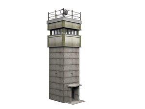 3D watchtower bt-9 berlin wall