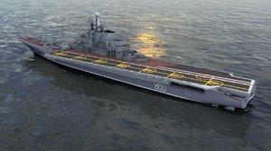 kiev russian aircraft carrier 3D model