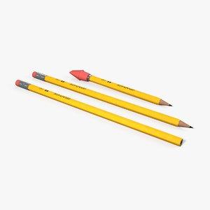 pencils eraser cap 3D model