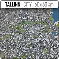 3D model tallinn surrounding -