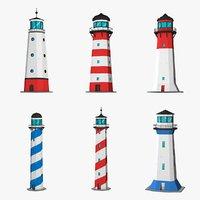 lighthouses games 3D model