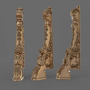 stair column 3D model