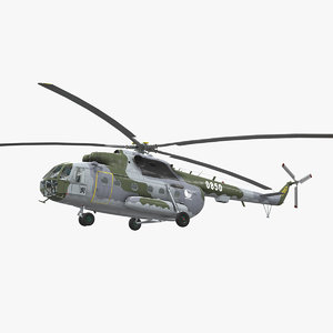 mi-17 czech air force 3D model