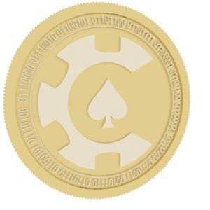 3D model casinocoin gold coin