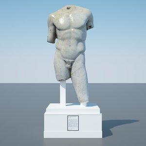 doryphoros spear bearer sculpture 3D model