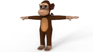 3D monkey games model