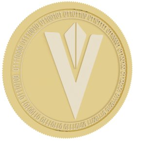 content gold coin network 3D model