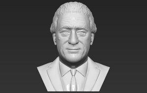 3D model robert niro bust ready