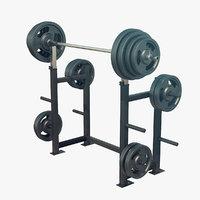squat rack 3D model