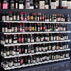 3D showcase 008 alcohol bottle wine