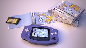nintendo gameboy advance 3D model