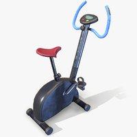 bike workout lowpol 3D