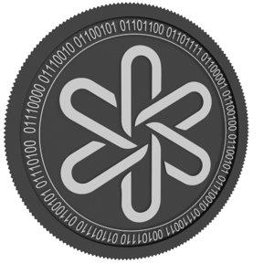3D dent black coin