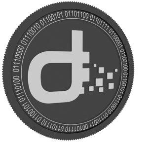 3D daps token black coin model