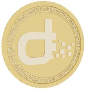 daps token gold coin 3D model