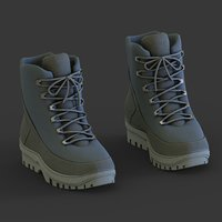 3D boots modeled blue