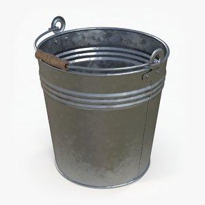 3D model metal bucket