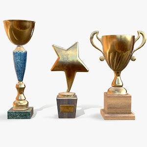 3D trophy cups model