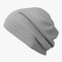 knit cap gray 3D model