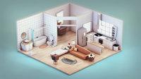 stylized flat apartment