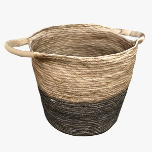 3D model wicker storage basket