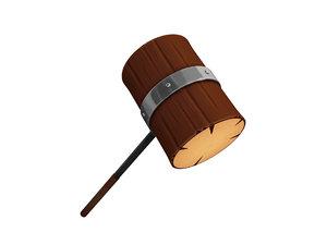 wooden mallet 3D