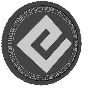 energi black coin 3D model