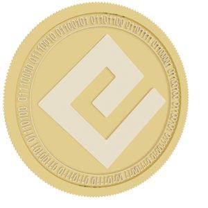 energi gold coin 3D model