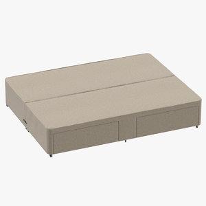bed base 01 oatmeal model