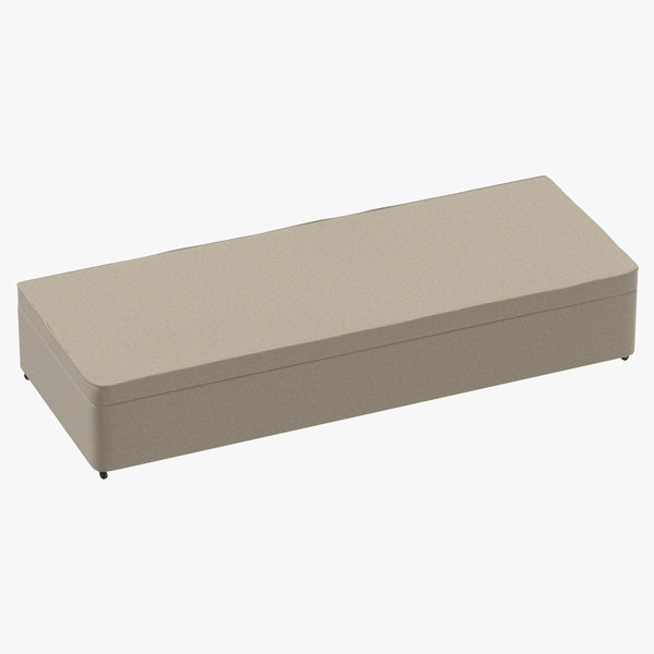 3D bed base 02 oatmeal