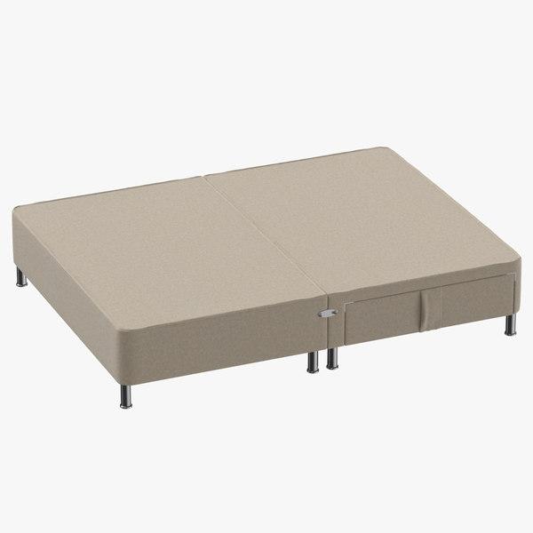 bed base 06 oatmeal 3D model