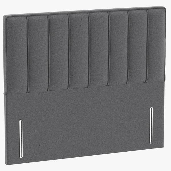 headboard 04 grey 3D model