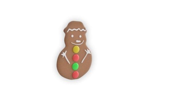 3D model gingerbread snowman