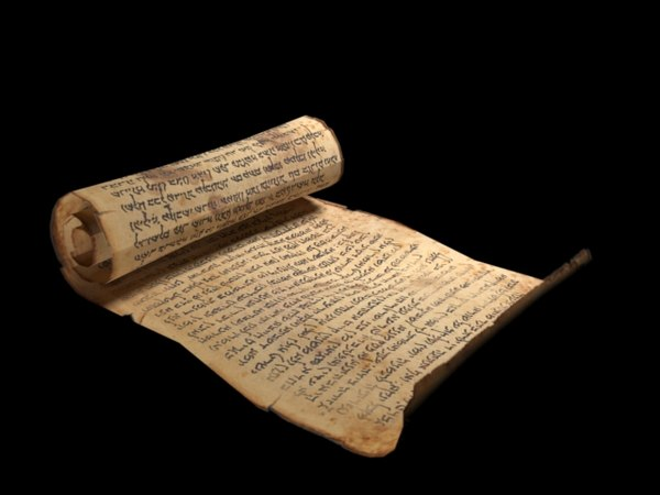 3D old scroll