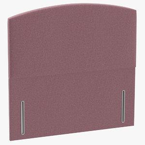 3D headboard 05 blush model