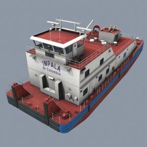 3D pusher boat