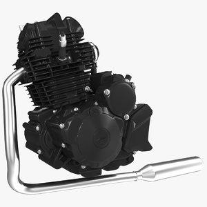 motorcycle engine 3D model