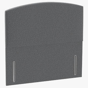 3D model headboard 05 grey
